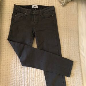 Charcoal grey Paige skinny jeans